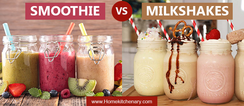 Smoothie vs Milkshakes