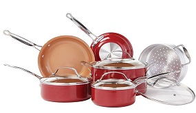 BulbHead Red Copper Ceramic 10-Piece set