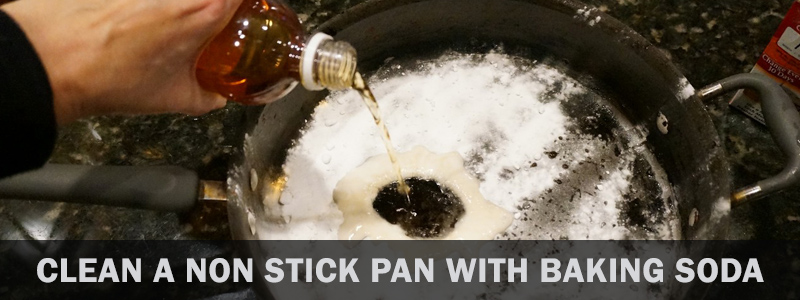 How to clean a non stick pan with baking soda