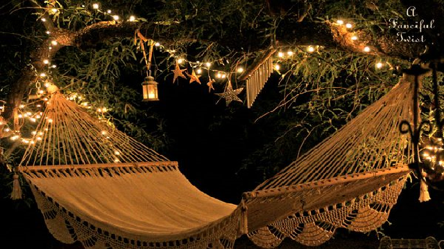 Glow up your backyard swing