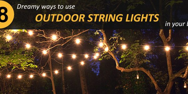 ways to use outdoor string lights