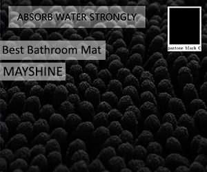MAYSHINE Non-Slip Bathroom Rugs Shag Shower Mat