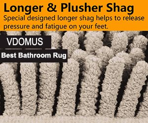 VDOMUS Recommended Bathroom Rug