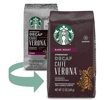 Starbucks Decaf Ground Caffè Verona