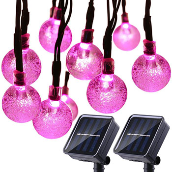 Globe Solar Bulb String