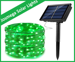 JosMega Solar String Fairy Lights
