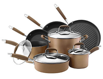 Anolon Advanced Hard Anodized Nonstick Cookware Pots and Pans Set
