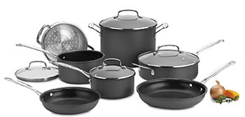 Cuisinart Chef's Classic Nonstick Hard-Anodized Cookware Set