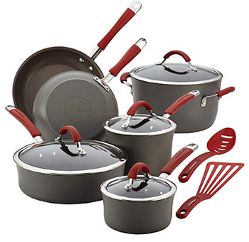 Rachael Ray Cucina Hard Anodized Nonstick Cookware Pots and Pans Set