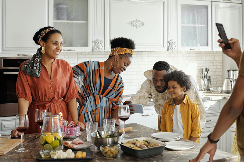 Family Time in Kitchen